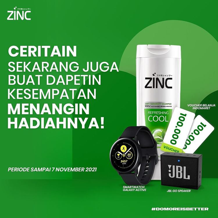 Kuis Do More ZINC Hadiah SAMSUNG Galaxy Active, JBL Go, Voucher