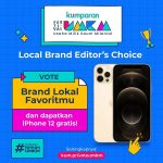 Kuis Vote Brand Lokal Favorit Berhadiah 1 unit iPhone 12