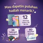 Lomba Cerita Rencana Liburan Berhadiah 12 unit Samsung Tab S6 Lite