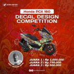 Lomba Desain Decal Honda PCX 160 Total Hadiah Jutaan Rupiah