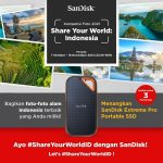 Lomba Foto Alam Indonesia Berhadiah 3 unit SanDisk Pro Portable SSD