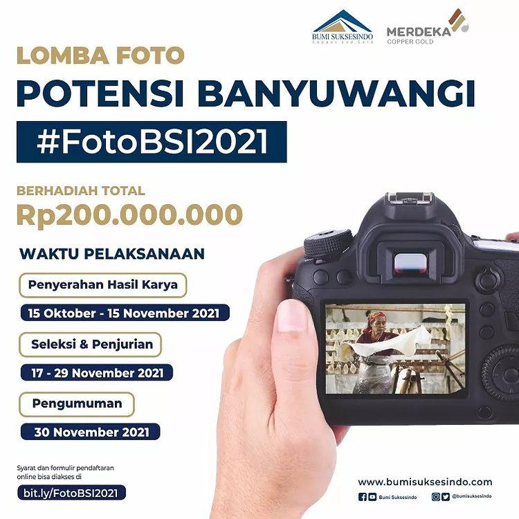 Lomba Foto Potensi Banyuwangi Berhadiah Uang 200 Juta Untuk 100 Juara