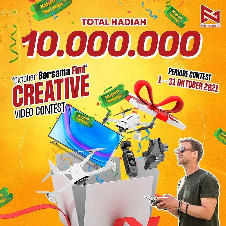 Lomba Video Oktober Bersama Fimi Berhadiah Xiaomi Mi TV 4 32 Inchi