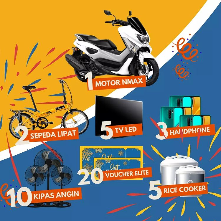 Promo Gebyar Undian Elite PVC Plafon Berhadiah Motor Yamaha NMax
