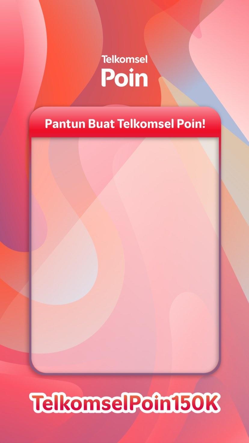 Template Giveaway Pantun 150K Telkomsel Poin Berhadiah Pulsa Total 4,5 Juta