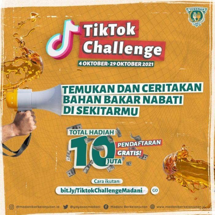 TikTok Challenge Bahan Bakar Nabati Di Sekitarmu Total Hadiah 10 Juta