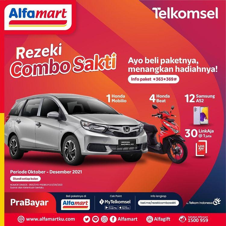 Undian Telkomsel Rezeki Combo Sakti Berhadiah Honda Mobilio, Motor, dll
